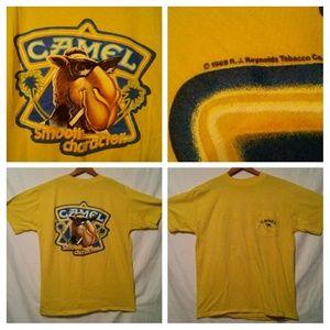 Vintage 1989 CAMEL SMOOTH CHARACTER Pocket T Shirt